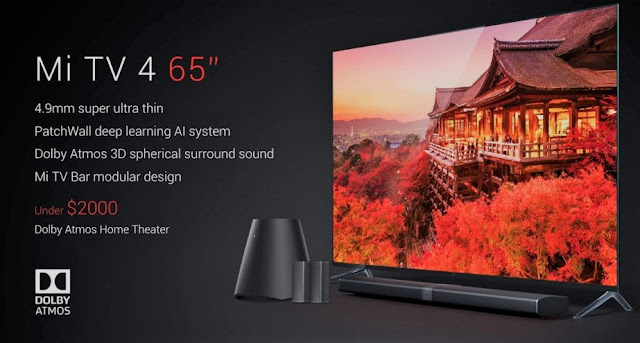 Xiaomi Mi TV 4 With 4K HDR 65-Inch Display, 2GB RAM Launched