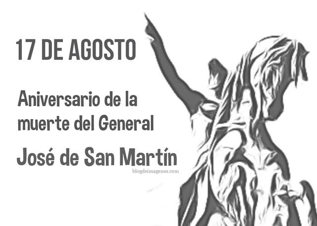 Colorear Aniversario de la muerte del general San Martín