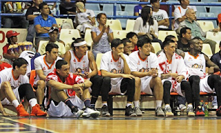 Meralco Bolts' Bench
