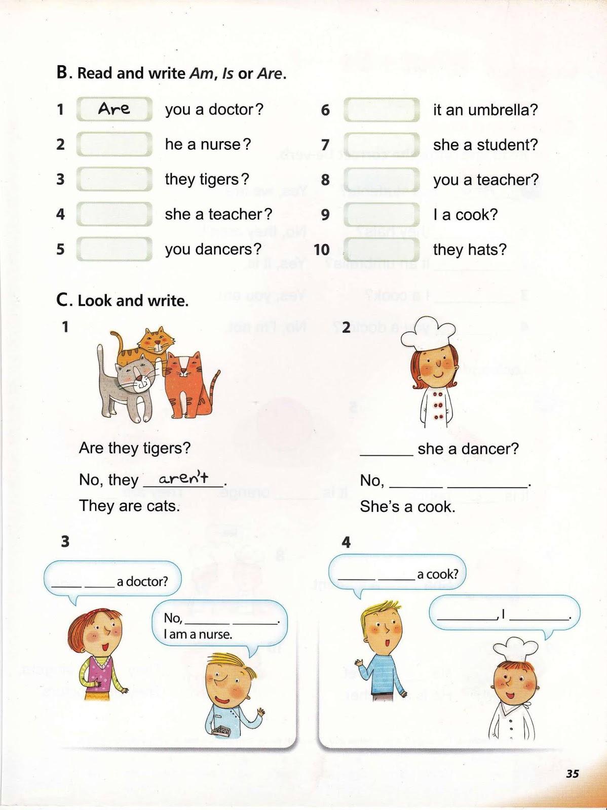 Worksheets My First Grammar 1