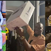 """""""Which kind wife be this?"""" – Actor, Junior Pope Odonwodo hails wife as she surprises him with Ps5, 1 million Naira, and an Armani watch on his birthday"""