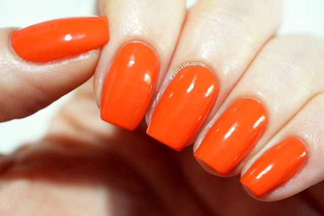 Barry M SS19 Gelly Nail Paints Swatches Tangerine