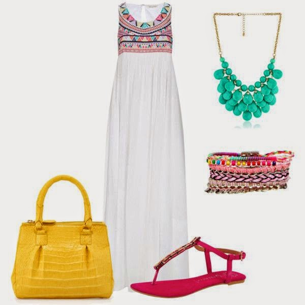 Outfit maxi dress etnic