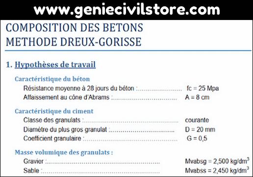 Formulation du Béton (Dreux Gorisse)