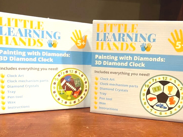 It's TIME To Ignite Your Child's Creativity With Little Learning Hands 3D Diamond Clocks #MBPHoliday20