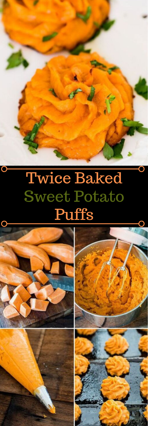 Twice Baked Sweet Potato Puffs #paleo #baked #diet #healthydinner #potato