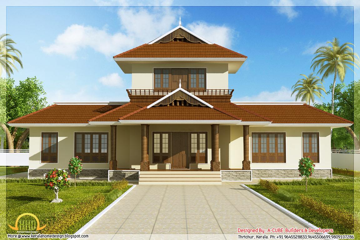 Awesome 3 Bhk Kerala Home Elevation  1947 Sqft  Kerala