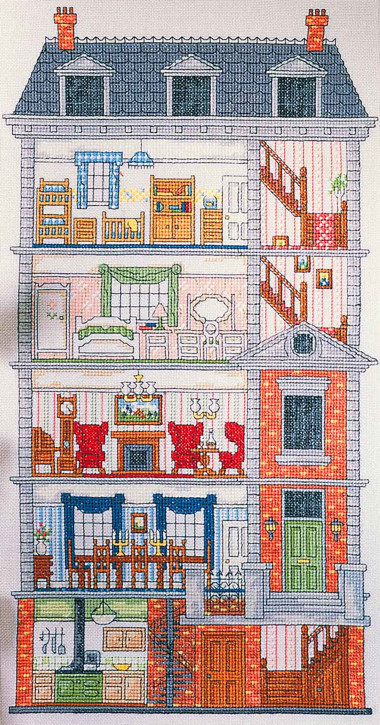 Cross Stitch Dollhouses April 2012