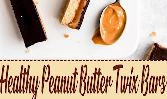 Healthy Peanut Butter Twix Bars