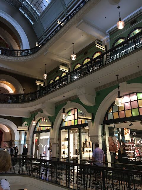 Stained glass windows in the QVB Sydney