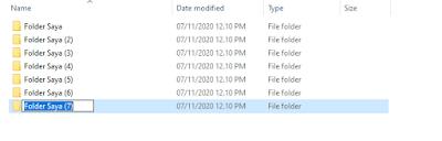 Mengubah Nama Default New Folder