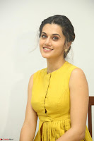 Taapsee Pannu looks mesmerizing in Yellow for her Telugu Movie Anando hma motion poster launch ~  Exclusive 010.JPG