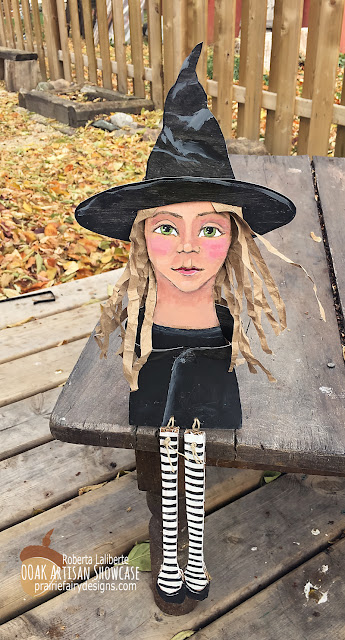 Roberta Laliberte Wicked Witch Mixed Media OOAK Artisans