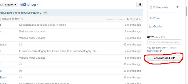 Contoh Aplikasi dari Berga membuat E-Commerce YII2  Shop Samdark dengan Source Code gratis