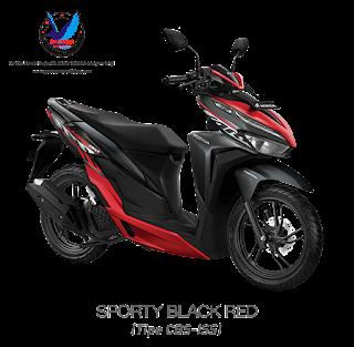 vario 150 sporty black red terbaru 2020
