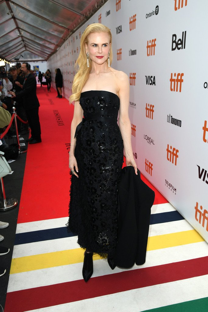 Nicole Kidman dazzles in a sequin black gown and blazer at the Toronto International Film Festival premiere of The Goldfinch