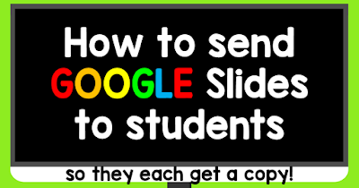 If you have never sent a Google Slides activity to students, I hope you will find this post helpful! It's a step by step on how to send Google Slides activities to students so that every student gets a copy. It's super easy!