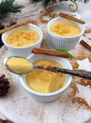 Leite de creme saudável (lowcarb; fit; sem açúcar; sem farinha nem amido; com os ovos inteiros)