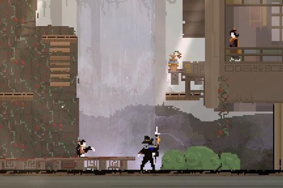 Olija scene with the harpoon weapon