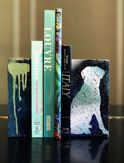 These upcycled bookends are sure to please any dog lover!
