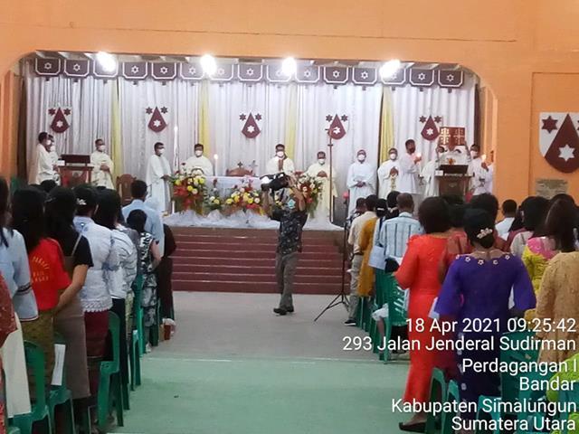 Ciptakan Situasi Aman Dan Kondusif Babinsa Koramil 06/Perdagangan  Laksanakan Pam Di Gereja