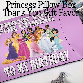 Need a quick and easy party favor for your Princess party? These printable pillow box filled with Princess Kisses are the perfect addition to your party or dessert table.