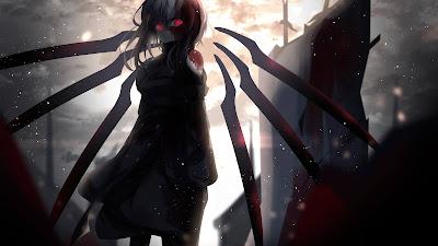 HD Wallpaper Red Shiny Eyes Anime Girl