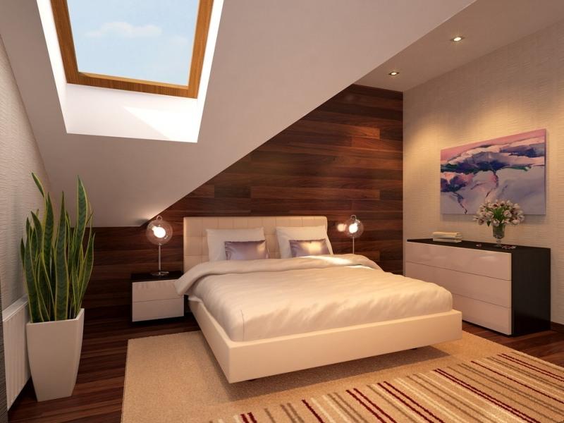 Wandgestaltung Schlafzimmer Schräge Wände