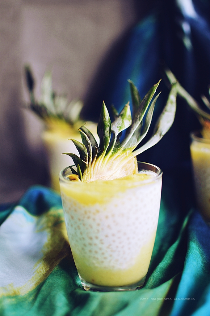 Migdałowa tapioka z musem ananasowym