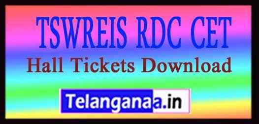 TSWREIS RDC CET Hall Tickets Download