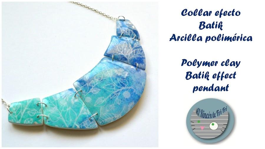 imitación batik arcilla polimérica