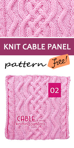 Knitted Cable Panel Pattern 02 , its FREE