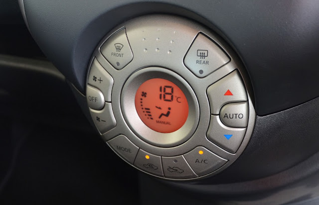 The auto climate feature of Nissan Almera