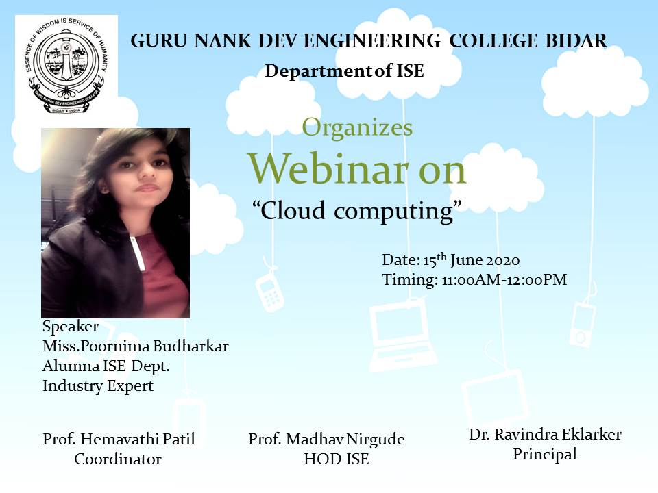 Webinar conducted by ISE Department on 15th June 2020 by
