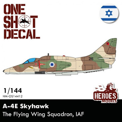 HM-OS14412 1/144 A-4E Skyhawk | Israeli Air Force One shot decal