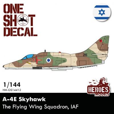 HM-OS14412 1/144 A-4E Skyhawk | Israeli Air Force One shot decal