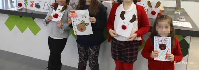 postal-navidad-diy-materiales-reciclados-taller-alumnas
