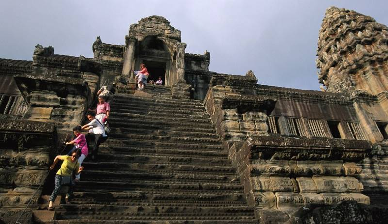 Stairs of Temples of Angkor Wat, Cambodia