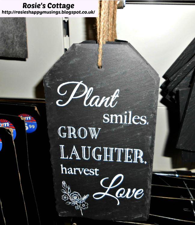 Decorative slate garden plaque