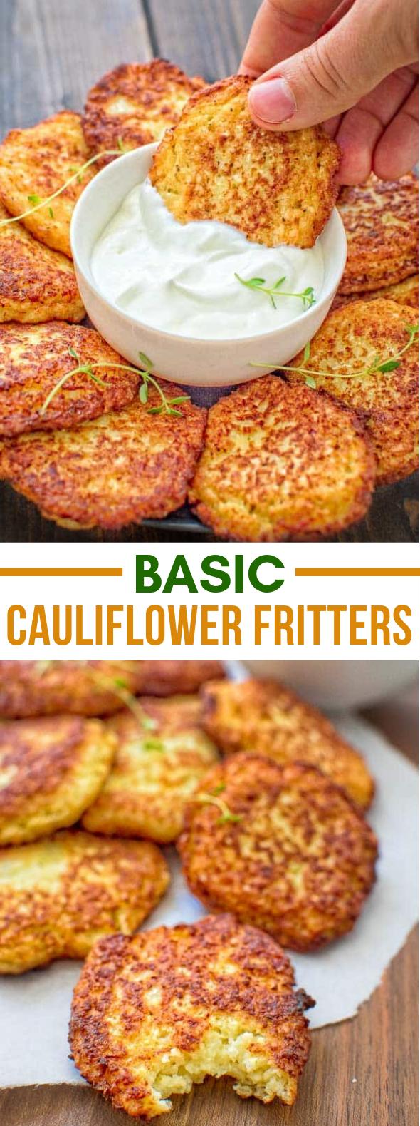 BASIC CAULIFLOWER FRITTERS #vegetarian #cooking