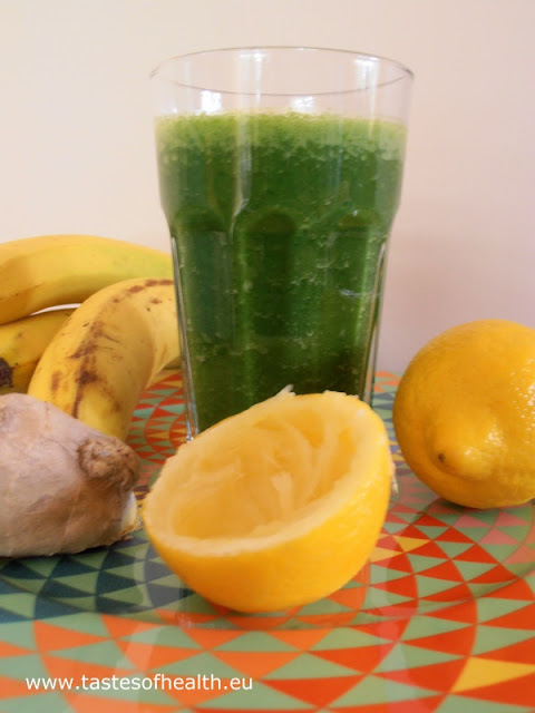 smoothie, spinach, banana, ginger, spinach smoothie, banana smoothie, healthy breakfast, breakfast smoothies
