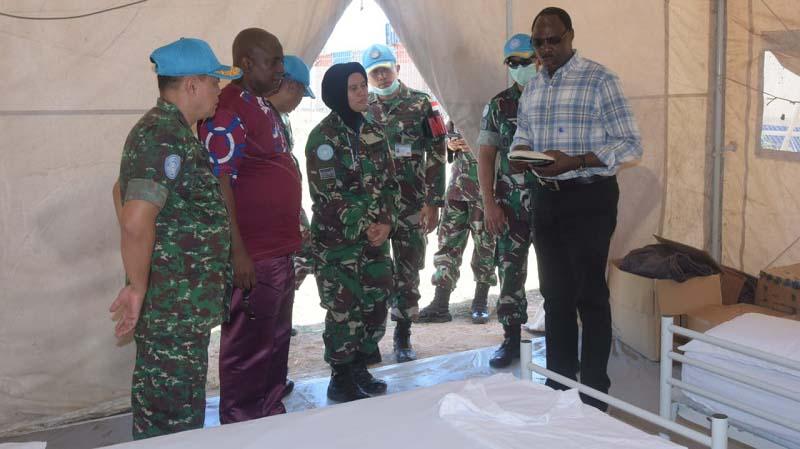 Perwakilan WHO Tinjau Kesiapan Ruang Isolasi Pasien COVID-19 Satgas RDB di Kongo