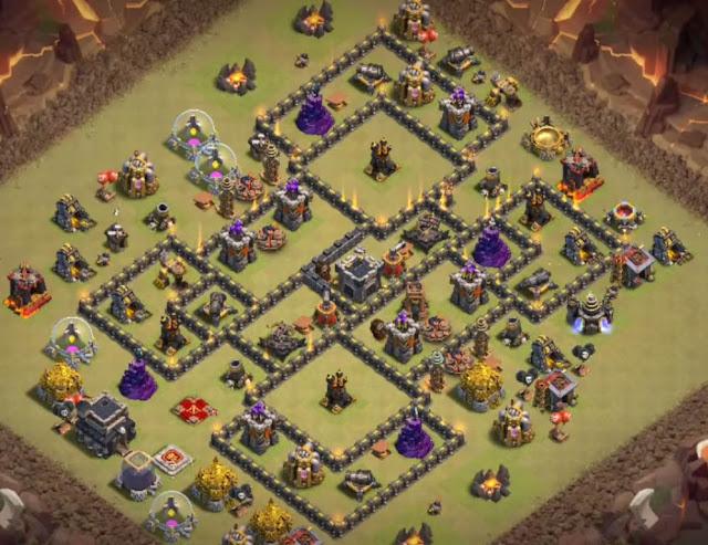 Top 22+ Best Town Hall 9 War Base Designs 2019