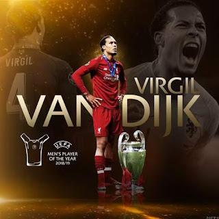 BOOM: Liverpool's Virgil Van Dijk UEFA men's player of the year.