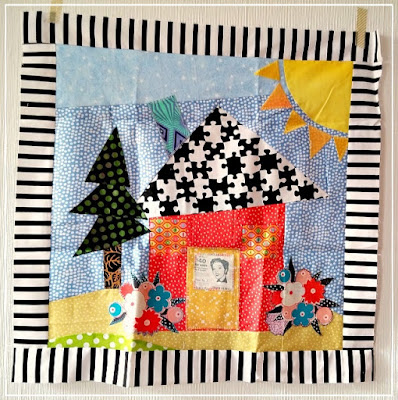 Freddy Moran, Round Robin, Starter Block, Puppilalla, Patchwork, Quilting, The Rakish Needle