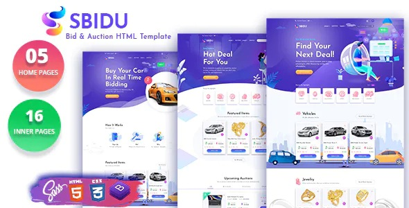 Best Bid And Auction HTML Template