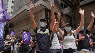 Hong Kong protest over proposed national security law mixed with tears