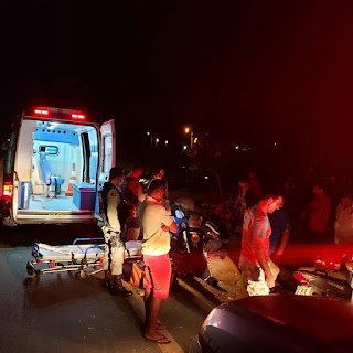 Casal fica ferido após ultrapassagem na BR-104, próximo a Cuité