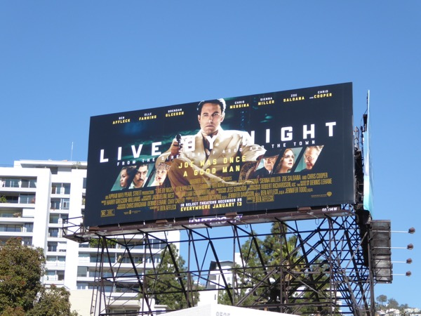 Live by Night movie billboard