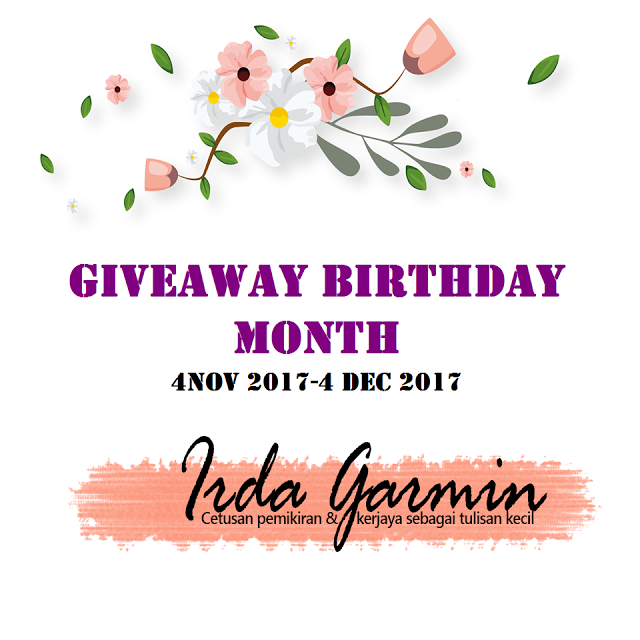 Giveaway Pertama Dari Blog Irda Garmin